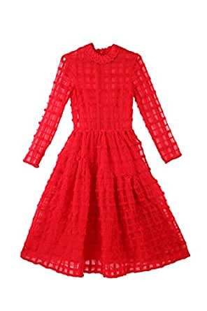 Simone Rocha for Vogue Women's Net Empire Dress (VOGPP8_Red_Small)