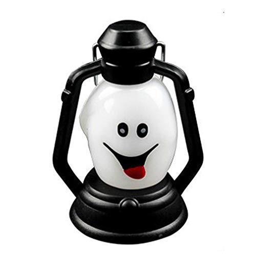 Kostüm Feuerzeug - Philip Peacoc 1 watts streich Grimasse New Halloween Lampe Tragbare Hängelampe Scary Horror Bunte LED Laterne Feuerzeug Halloween Dekorationen (1 STÜCKE)