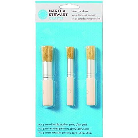 Martha Stewart Stencil Pennello Set 3/Pkg-