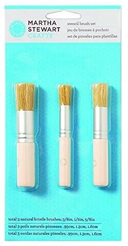 Plaid:Craft Martha Stewart Stencil Brush Set 3/Pkg-, Other, Multicoloured