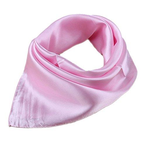 Damen OL Bandana Head Wrap Luxus Haar Schals Taschentuch Schal Scarf (Hell Pink)
