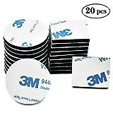 FEIGO 3M 9448A Bande de Mousse, Lot de 20 Coussinets Double Face Noir Haute Performance Accessoire Auto - 30/20 × 25mm