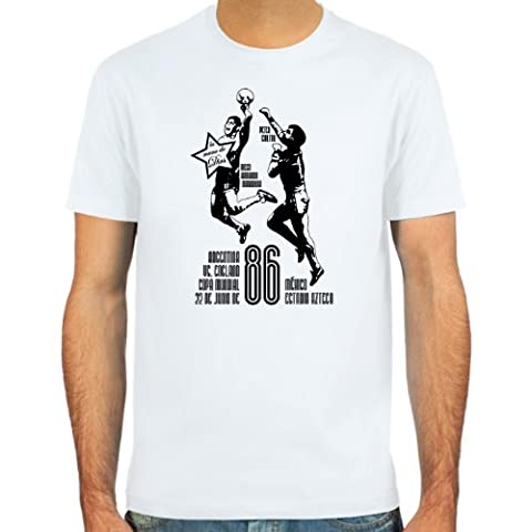 SpielRaum T-Shirt Diego Armando Maradona ::: Farbauswahl: skyblue, sand, weiß oder deepred ::: Größen: S-XXL :::