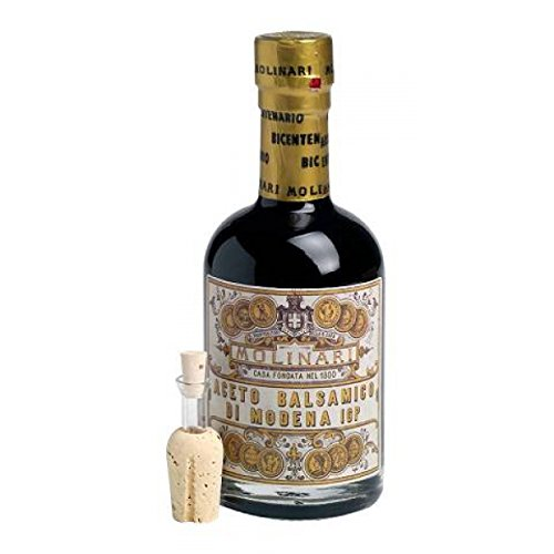 Original Aceto Balsamico di Modena inkl. Dosieraufsatz von Caffè Molinari, 250 ml (Provinz-creme)