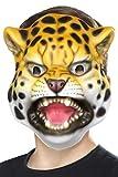 Smiffys Unisex Leoparden Maske, One Size, Gelb und Schwarz, 46970