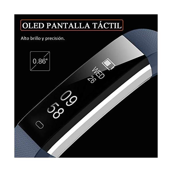 Pulsera de Actividad Inteligente, Sumergible Reloj Deportivo IP67 Smartwatches Cómodo con Pantalla Táctil Longitud… 2