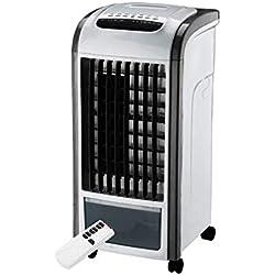 KERULA Cold Fan Home 4 En 1 Plus Eau Climatiseur Mobile Ventilateur De ContrôLe à Distance Humidificateur Air Frais De Bureau Haute Puissance Durable Ventilateur (Noir, 61*32*29cm)