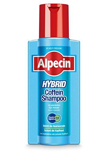 Alpecin Hybrid Coffein-Shampoo, 1 x 250 ml - Spendet Feuchtigkeit und beugt Haarausfall vor