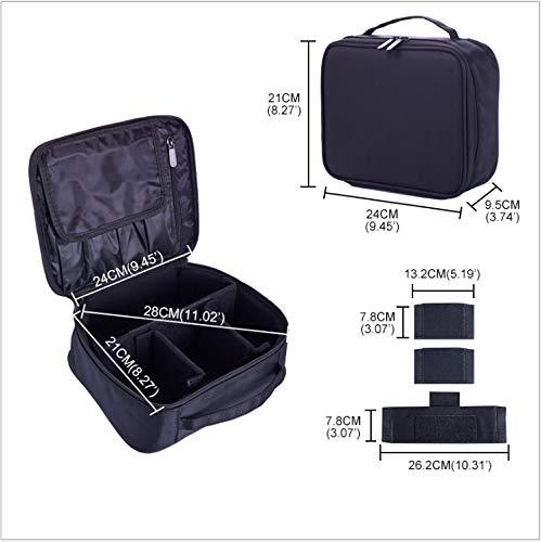 WANLL Kit Di Trucco Per Pareti Divisorie Per La Raccolta Di Viaggi Professionali Mini - velcro Nero