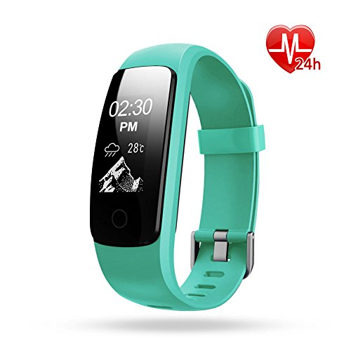 Activity Tracker, Lintelek Waterproof Fitness Tracker with Heart Rate Monitor, Step Counter Watch, 14 Sports Mode, Connected GPS, Relax, Stopwatch, Bluetooth Pedometer for Android phone and iOS