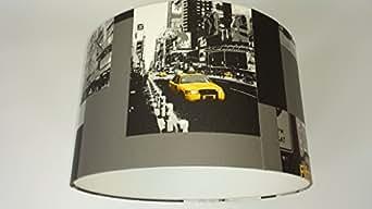 lampshade4room abat jour new york taxi jaune 30 cmfait main luminaires et eclairage. Black Bedroom Furniture Sets. Home Design Ideas