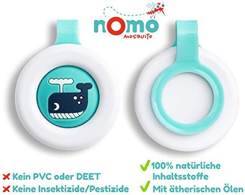 NoMo Mosquito gegen Mücken - Mückenschutz Clip für Baby und Kinder 100% pflanzlich - 1 Anti Mücken Clip hält 30 Tage