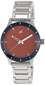 Fastrack Monochrome Analog Red Dial Women's Watch - 6078SM05