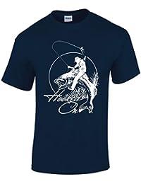 Tshirt Poisson Pour Hommes Vêtement De Pêche Hooked On Fishing Cadeaux pour pêcheur