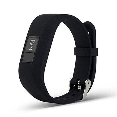 Interesting® Ersatz Silikon Armband Band Armband Armband für GARMIN VIVOFIT 3 - schwarz