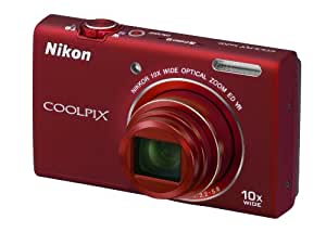Nikon COOLPIX S6200 Compact Digital Camera - Red (16MP, 10x Optical Zoom) 2.7 inch LCD