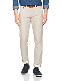 TOM TAILOR Denim Herren Hose Yarn Dye Chino with Belt