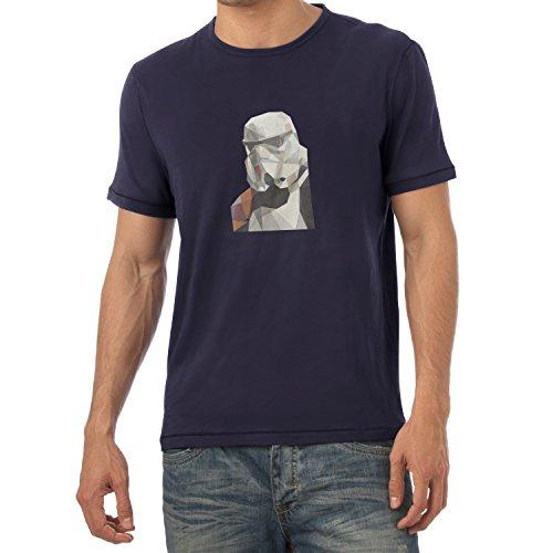 TEXLAB - Low Poly Trooper - Herren T-Shirt Navy