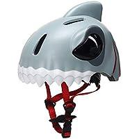 JINWEI Casco De Seguridad para Niños, Casco De Tiburón 3D Desmontable Casco De Bicicleta De
