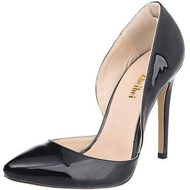 Moda donna sexy sandali scarpe donna sintetico Stiletto Heel tacchi tacchi / Matrimoni Party & Sera / Abbigliamento Casual / nero / rosso / Mandorla Red