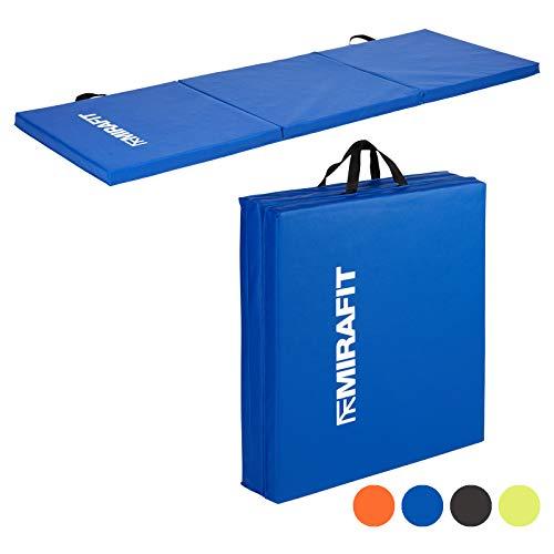 faltbare gymnastikmatte MiraFit Zusammenklappbare Gymnastikmatte - für Fitness/Workout/Yoga/Pilates - in Schwarz oder Blau