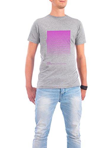 """Design T-Shirt Männer Continental Cotton """"Sunset."""" - stylisches Shirt Typografie Abstrakt Geometrie Natur von Tim Löhrs Grau"""