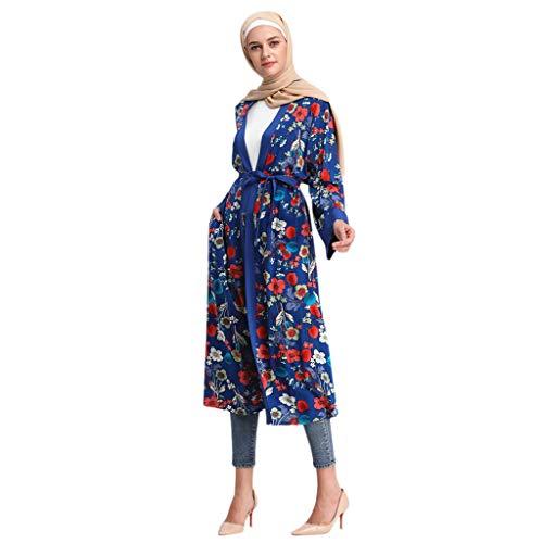 Mitlfuny Indian Muslim Islamic Arab Abaya Jilbab Middle Eastern Ramadan,Bell Sleeve Strick mit Perlen Lose Jilbab Plain Abaya Muslim Islamic Dress ()