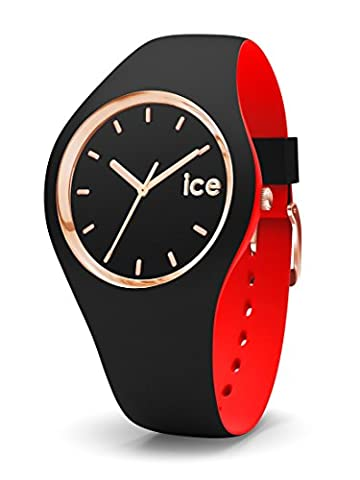ICE-Watch - 007226 - Loulou Black Rose-Gold - Montre Femme - Cadran Noir - Bracelet Silicone Noir