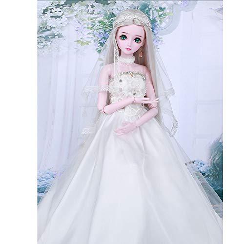 BJD 1/3 Puppe gemeinsame Puppe Prinzessin Snow Ji ausländische Puppe Spielzeug Make-up ändern vollen Satz Nacht loli manuelle Änderung Geburtstagsgeschenk,Blue (Halloween Doll Barbie Makeup)