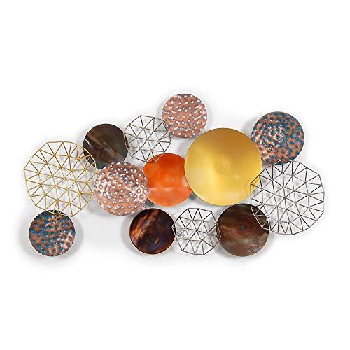 ADM Composición Abstracta Cuadro en Metal
