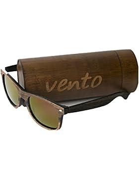 Vento Eyewear modelo Eivissa Wood&Purple - Gafas de sol de madera de bambú, diseñadas en Italia con certificados...
