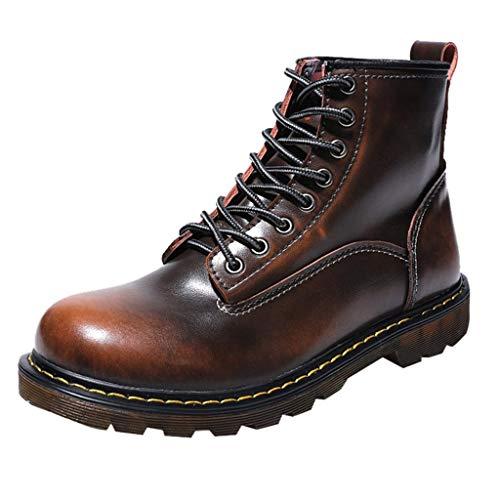 LuckyGirls Botas de Nieve Impermeable Zapatos con Cordones Botines Calzado Zapatillas para...