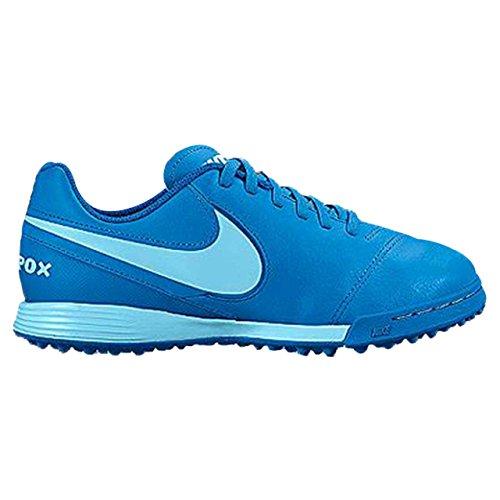 Nike 819191-444, Chaussures de Football Garçon Bleu