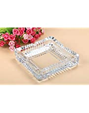 Xudo Home Decor Clear Glass Ashtray for Cigarette for Home and Car