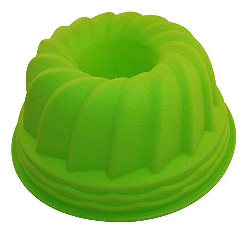 Gugelhupf Silikon Backform 21 cm in grün OHNE EINFETTEN einfach backen praktische Kuchenform Silikonform