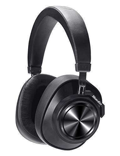 Bluedio T7 Auriculares Bluetooth Cancelación de Ruido Activa Personalizada, Estéreo Hi-Fi, 30 Horas de reproducción, Bluetooth 5.0, Auriculares inalámbricos con micrófono para PC/Celular