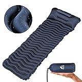 Unigear Camping Isomatte Kleines Packmaß, Aufblasbare Luftmatratze Camping, Schlafmatte für Outdoor, Ultraleicht Feuchtigkeitsbeständig Wasserdicht und rutschfest, MEHRWEG