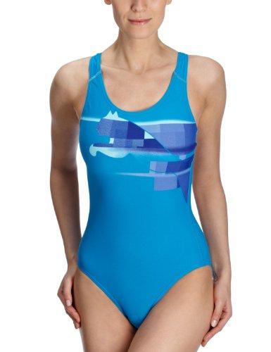 Puma Damen Badeanzug Hydrocat, blue danube, L, 819410 03 Preisvergleich