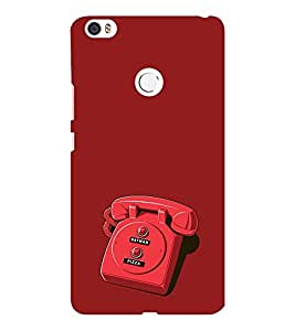 EPICCASE red phone Mobile Back Case Cover For Xiaomi Mi Max (Designer Case)