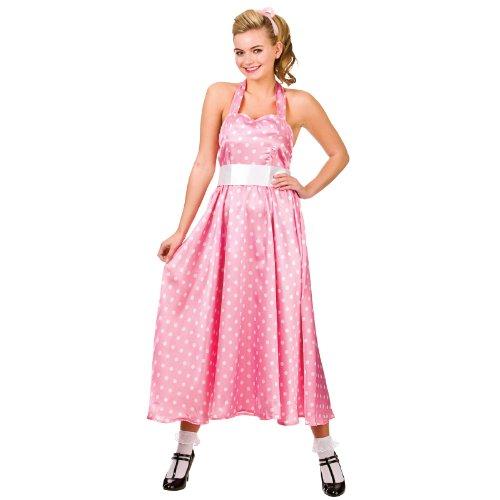 50s Bopper Dress Costume Woman Fancy Dress (Ladies Kostüm Ideen Grease Pink)