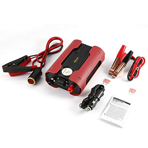 Appearandes Leshp Red 500W Peak 1000W Modified Sine Wave Power Inverter with 2 USB Port -