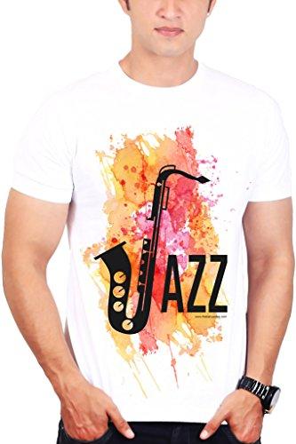 TBT ™ Mens Printed Music T shirt (Jazz Saxophone T shirt)