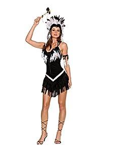 DreamGirl 187.215 tribal Princesa Traje - Negro - Mediana