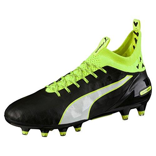 Puma Evotouch Pro Fg, Chaussures de Football Compétition Homme Noir - Schwarz (black-white-safety yellow 01)