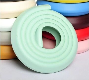 Bluenet 2M Baby Infant Kids Edge Safe Foam Protective Stripe, Childrenproofing Home Safety Furniture Edge Corner Guard Bumpers Cushion(2M-Mint Green)