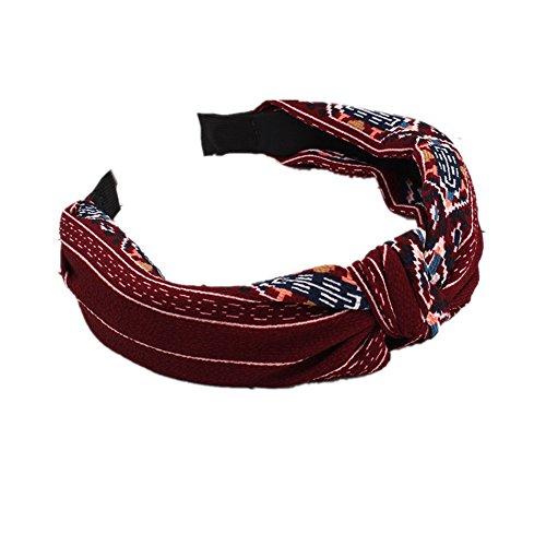 Demarkt Haarband Stirnband Blume Stirnband Headband Haarreifen Haarschmuck Rot