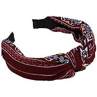 Kentop Weiseblumen Stirnband Haarschmuck Haar Wrap Haarband Dekor Kopfband (Weinrot)