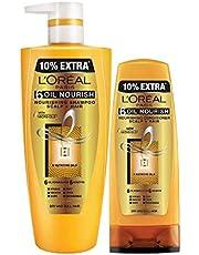L'Oreal Paris 6 Oil Nourish Shampoo & Conditioner, 704ml + 192.5ml (896.5ml) (Pack of 2)