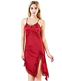 3670907450 Amazon.es  Ropa De Seda Para Mujer - Rojo   Camisones   Ropa de ...