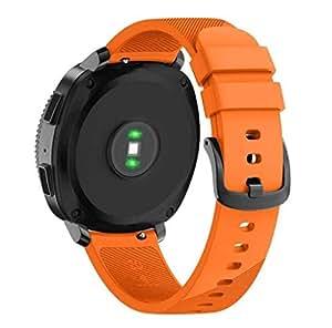 Cinturino alla moda, Scpink Per Samsung Gear Sport cinturino nuovo in silicone morbido fascia di ricambio in silicone per Samsung Gear Sport Smart Watch (Piccolo, Arancia)